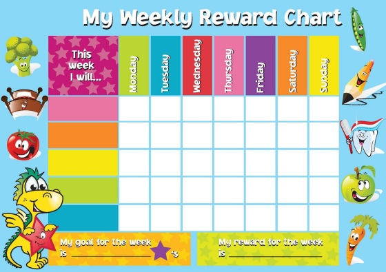 Kids Weekly Reward Chart