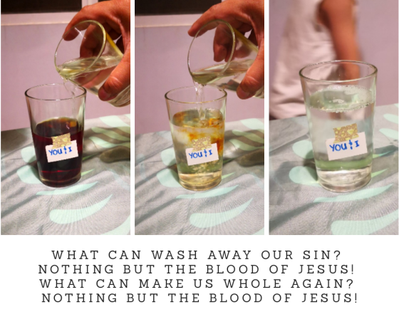 What can wash away our sin?